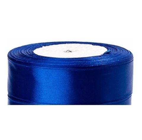 Лента атласная (размер:25мм х 25 ярдов) Цвет:синий