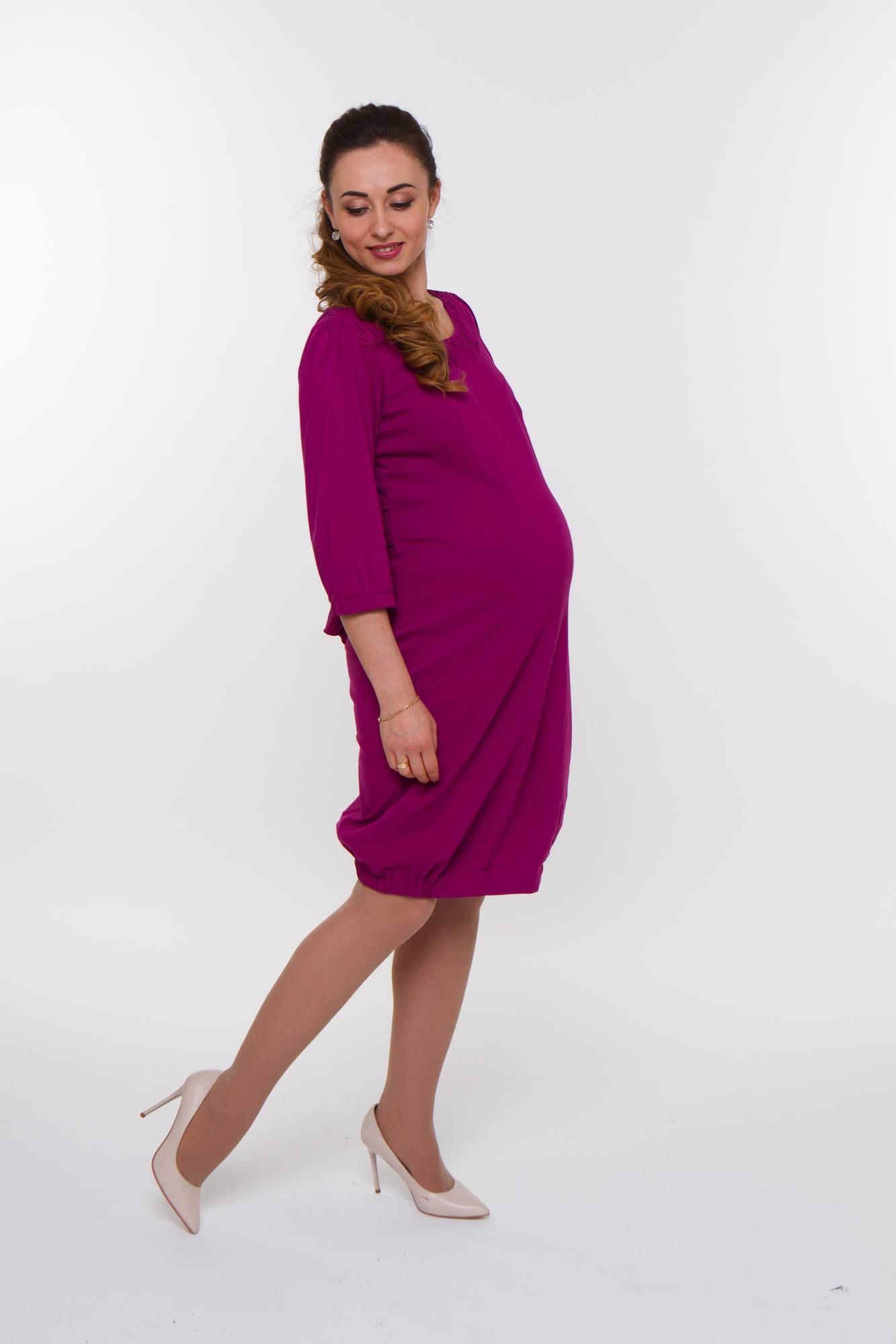 Платье для беременных 05827 бордовый