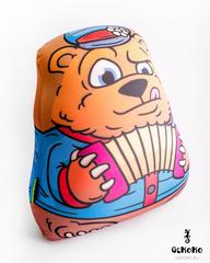 Подушка-игрушка антистресс Gekoko «Медведь-гармонист» 3