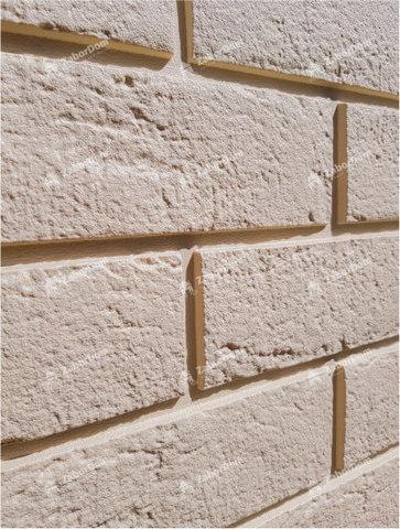 Фасадная панель Гранд Лайн Состаренный кирпич Бежевый 1109х418 мм