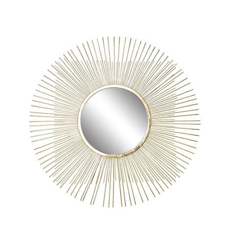 37SM-0734-R Зеркало декоративное золотое 70,5х70,5х1,9 см, центр.диам.28 см