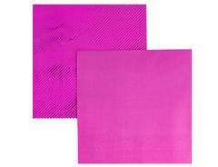 Салфетки фольгированные, Ярко-Розовый (Фуксия), 33 см, 6 шт, 1 уп.