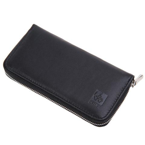 Маникюрный набор Dewal, 5 предметов, цвет черный, кожаный футляр