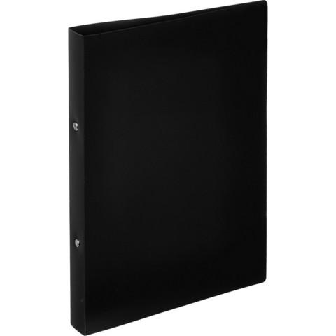 Папка на 2-х кольцах Attache 32 мм черная до 250 листов (пластик 0.45 мм)