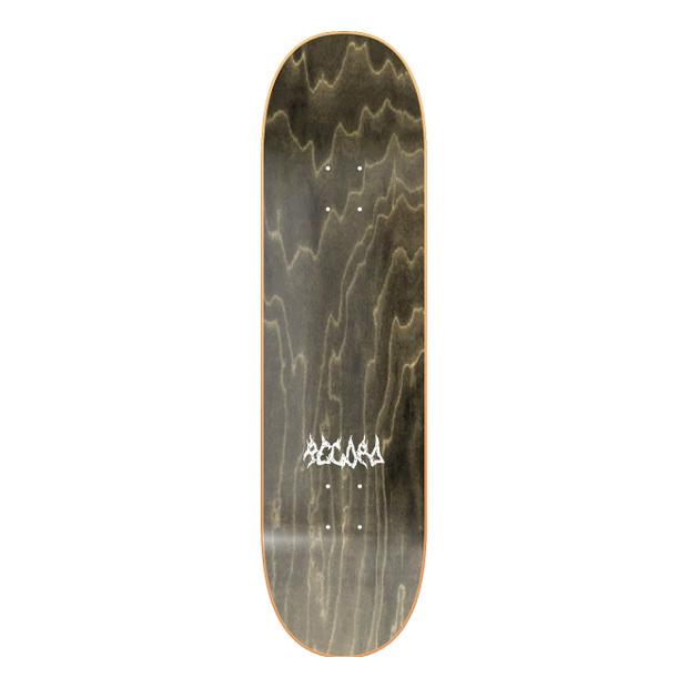 Дека для скейтборда RECORD Grind Logo (Black Ply)