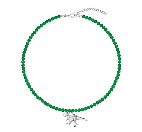 Зеленый чокер из стекла