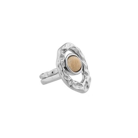 Кольцо двойное Amazonite Beige 16.5 мм K7158.12/16.5 BR/S
