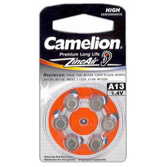 Батарейки Camelion ZA 13 / 6 BL
