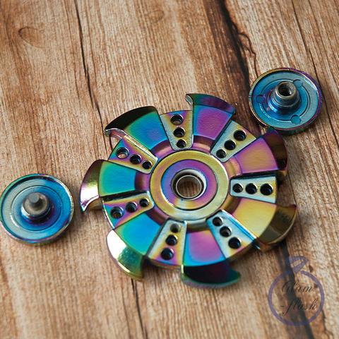 Спиннер из металла сюррикен цвет хамелеон 17029M
