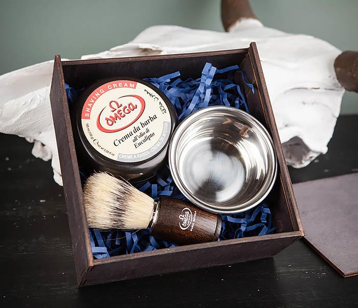PSET102 Подарочный набор из помазка, чаши и мыла для бритья фото 02