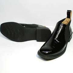 Весенние ботинки ботильоны кожа Ari Andano 721-2 Black Snake.