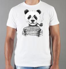Футболка с принтом Панда, Медвежонок (Panda) белая 0016