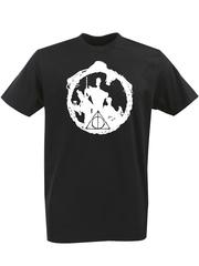 Футболка с однотонным принтом Гарри Поттер (Harry Potter) черная 003