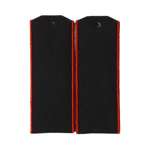 Погоны черные МП с красным кантом (рип-стоп,на пластике)