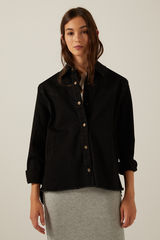 Куртка з органічної бавовни з бахромою