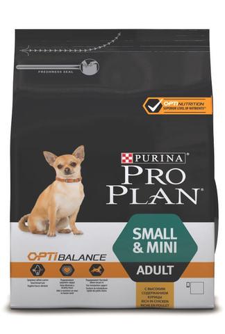 Сухой корм Purina Pro Plan для взрослых собак мелких и карликовых пород, курица с рисом