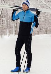 Утеплённый лыжный костюм Nordski Premium Light Blue-Black 2020 мужской