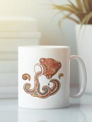 Кружка с изображением Знаки Зодиака, Водолей (Гороскоп, horoscope) белая 003
