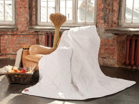 Одеяло льняное легкое 200x220 «Linen Wash Grass»