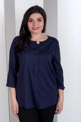 Ліза. Стильна блуза великих розмірів. Синій
