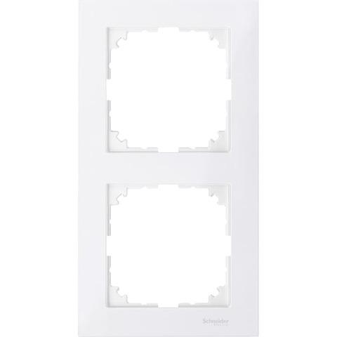 Рамка на 2 поста. Цвет Полярный белый. Merten. M-Pure System M. MTN4020-3619