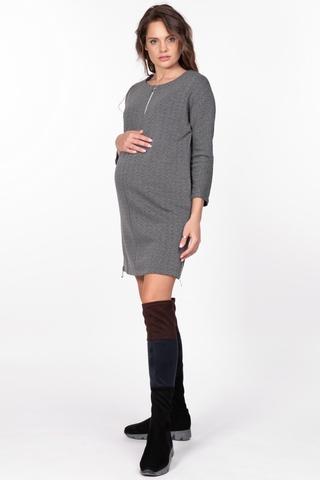 Платье для беременных 09738 серый