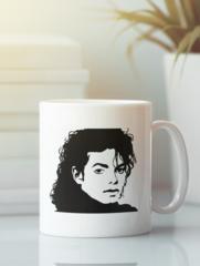 Кружка с изображением Майкла  Джексона (Michael Jackson) белая 002
