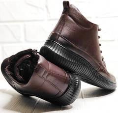 Кеды ботинки женские осень. Термо ботинки демисезонные. Коричневые ботинки кеды кожаные Evromoda DarkBrown