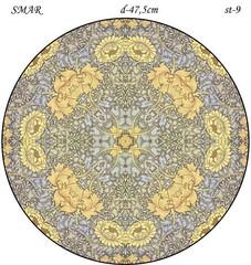Эскиз для росписи, Круг диаметр-47,5см, SMAR-st-9
