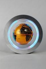 Левитирующий светильник: глобус в круглой раме (золотой)