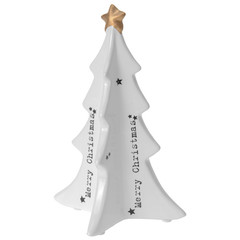 TREE 17CM TEXT AND STAR