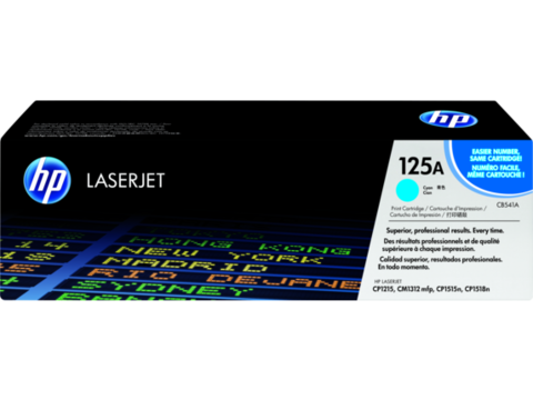 Оригинальный картридж HP CB541A (№125A), голубой