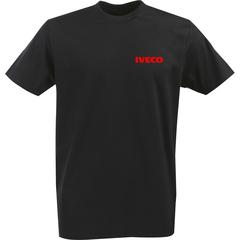 Футболка с однотонным принтом IVECO (Ивеко) черная 004