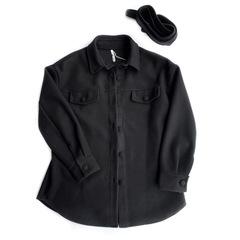 Рубашка на пуговицах (Черная)