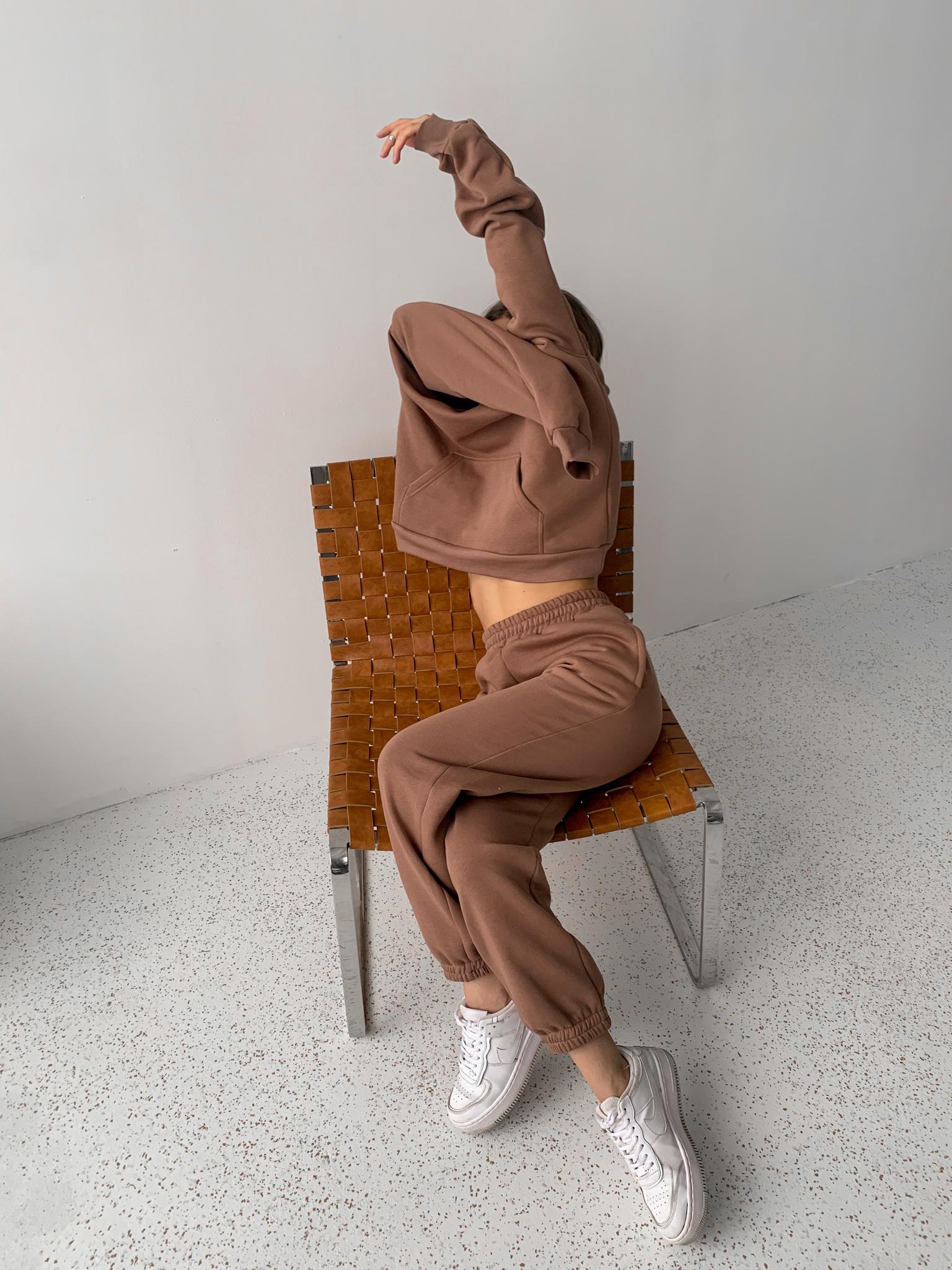 Теплый спортивный костюм (худи и джоггеры) (капучино)