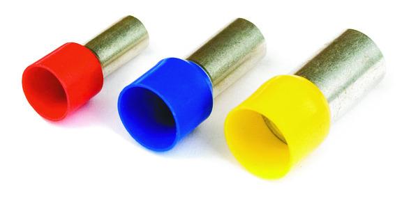 DKC / ДКС 2ART503BLL Наконечник-гильза штыревой втулочный, с изолированным фланцем, для сечения провода 0,75мм2, длина контактной части 9мм, голубой (НШВИ)