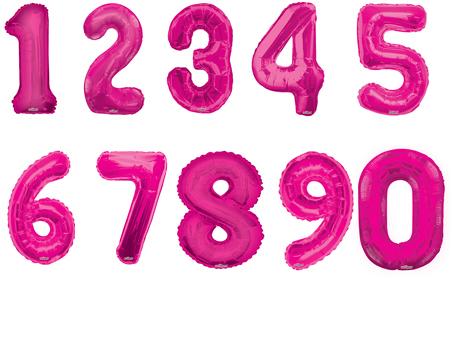 Фольгированный шар Цифра розовая в ассортименте 34