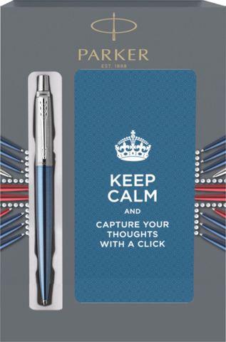 Подарочный набор с блокнотом и Шариковая ручка Parker Jotter Essential, Waterloo Blue CT123