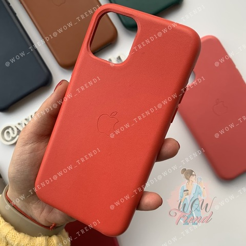 Чехол iPhone 11 Pro Max Leather Case /red/