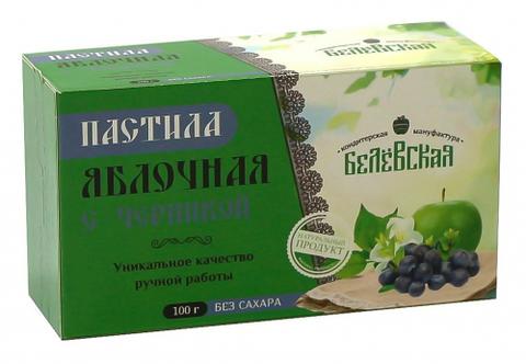 Пастила Белёвская яблочная с черникой без сахара, 100 г