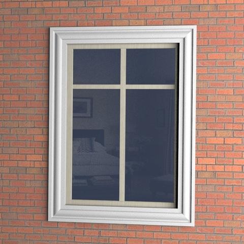 Наличник из пенопласта на окне