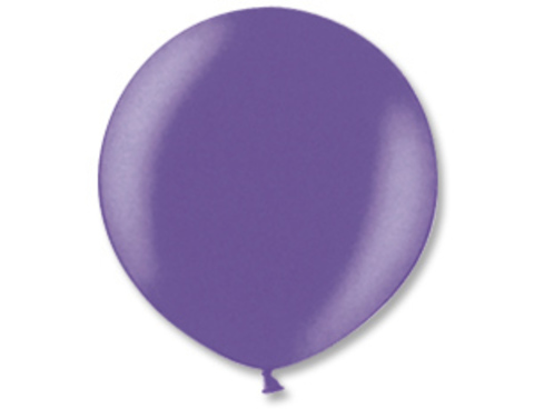 Большой шар металлик фиолетовый