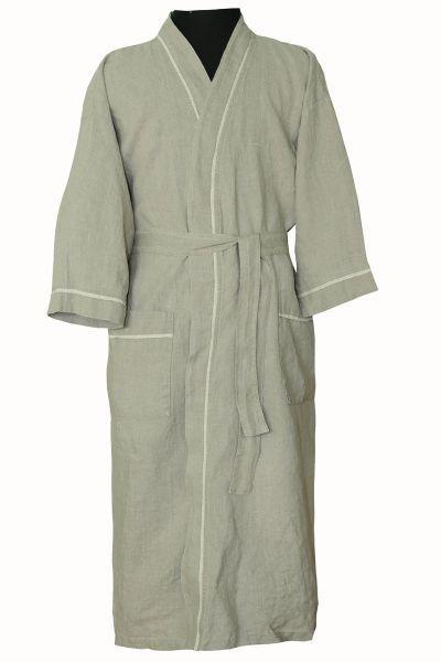 Льняной халат для бани мужской