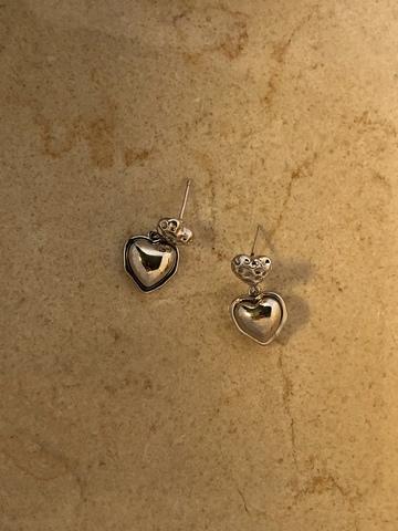 Серьги Пражти, серебряный цвет