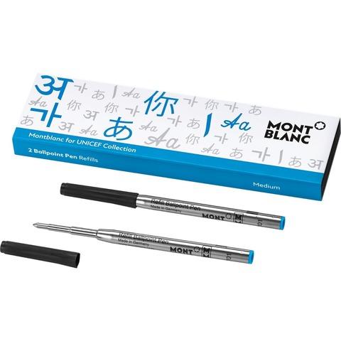 Стержни для шариковой ручки (M), UNICEF Blue 2017