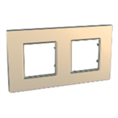 Рамка на 2 поста. Цвет Медь. Schneider Electric Unica Quadro. MGU6.704.56