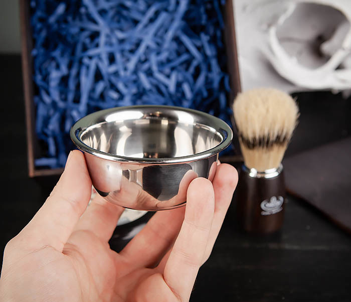 PSET102 Подарочный набор из помазка, чаши и мыла для бритья фото 07