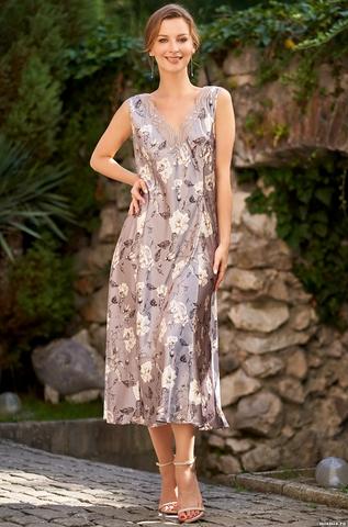 Длинная сорочка из натурального шелка Mia Amore Gracia