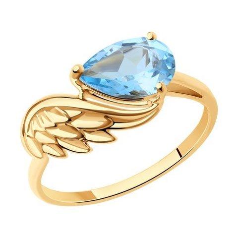 716248  - Кольцо из золота с топазами