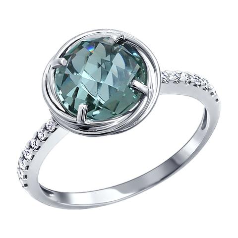 92010726 - Классическое серебряное кольцо с кварцем